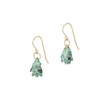 Blue Pinecone Earrings