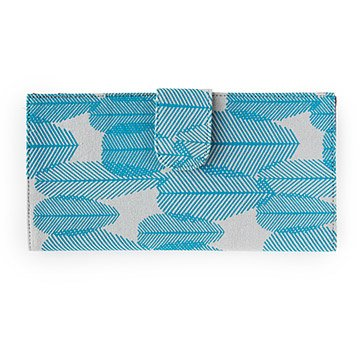 Blue Plume Screenprinted Phone Wallet