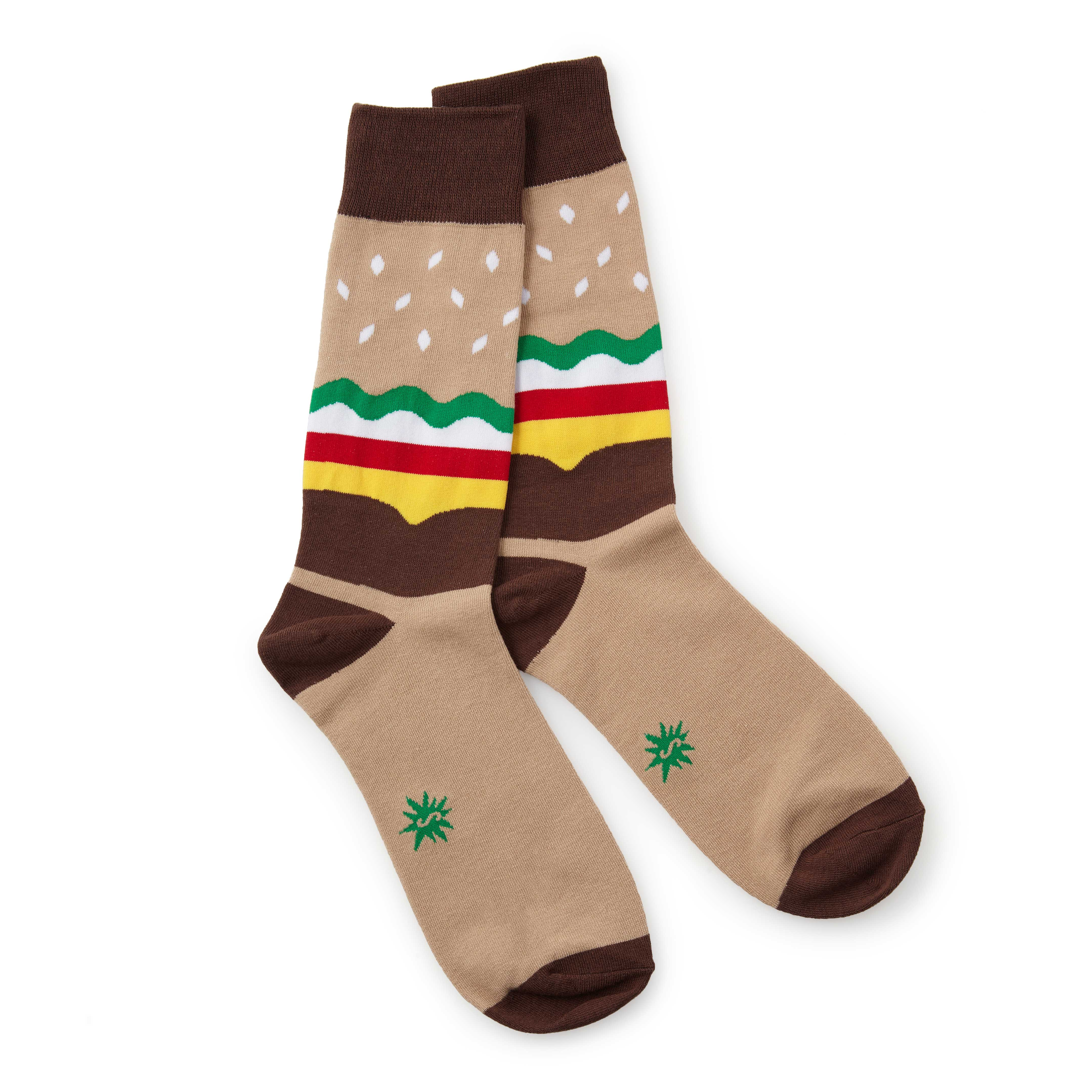 Men's Burger Socks | pictures of burgers | UncommonGoods