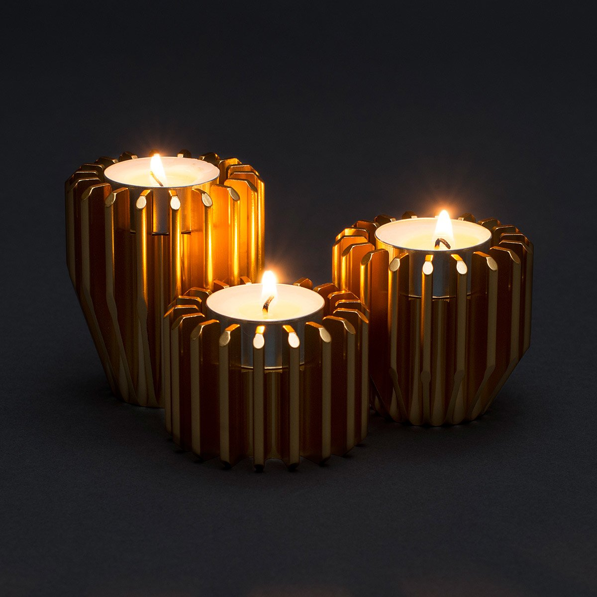 rotating gear candle holders set of 3 1 thumbnail