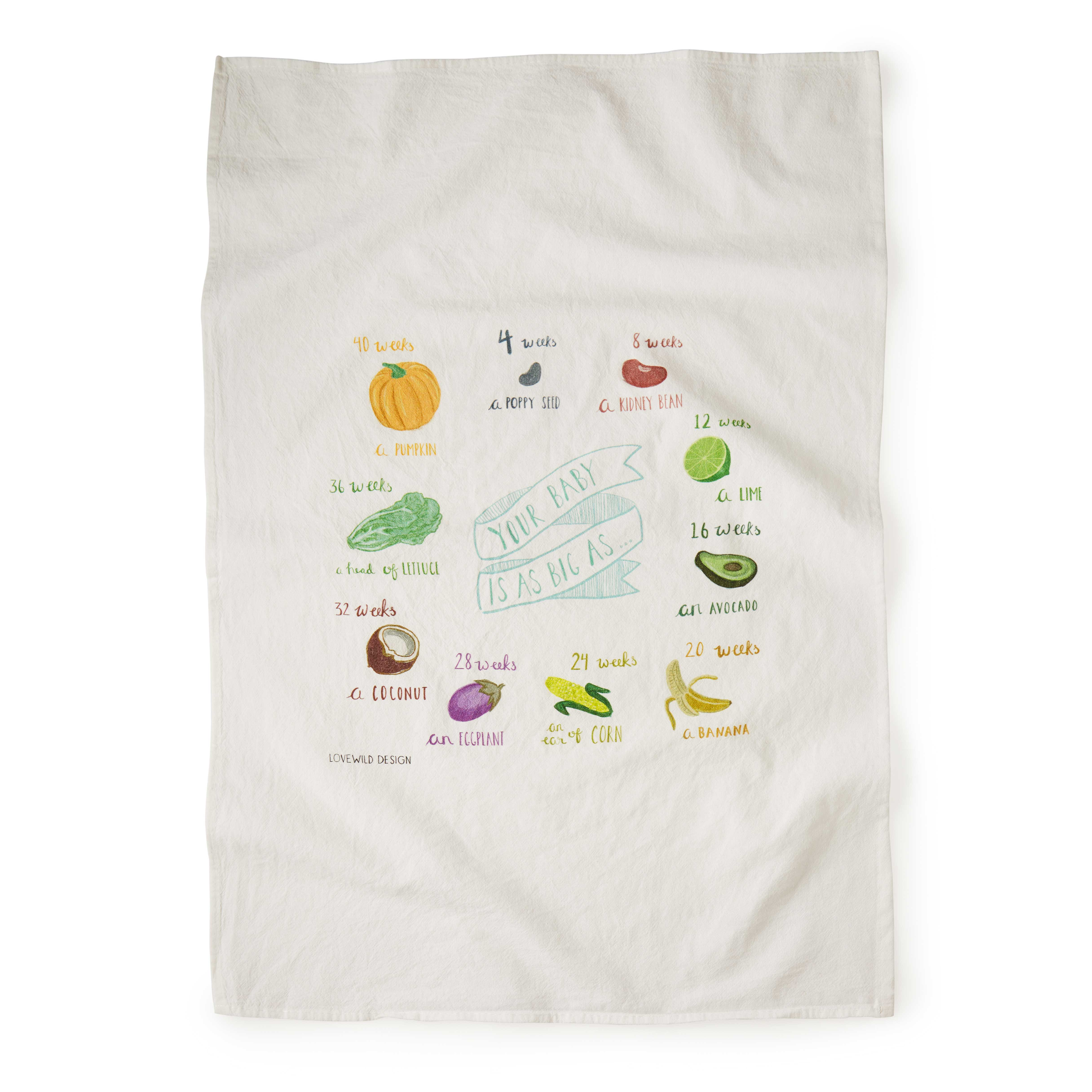 growing belly tea towel baby shower gift gift for mother
