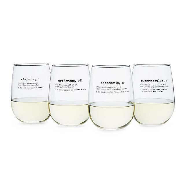 life by definition wine glasses set of 4