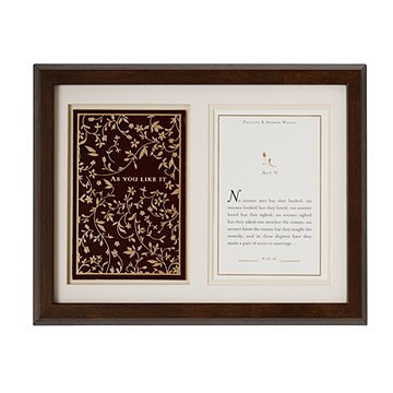 As You Like It Personalized Shadowbox - Marriage