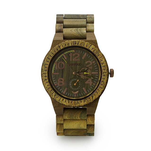 Army Green Wooden Watch