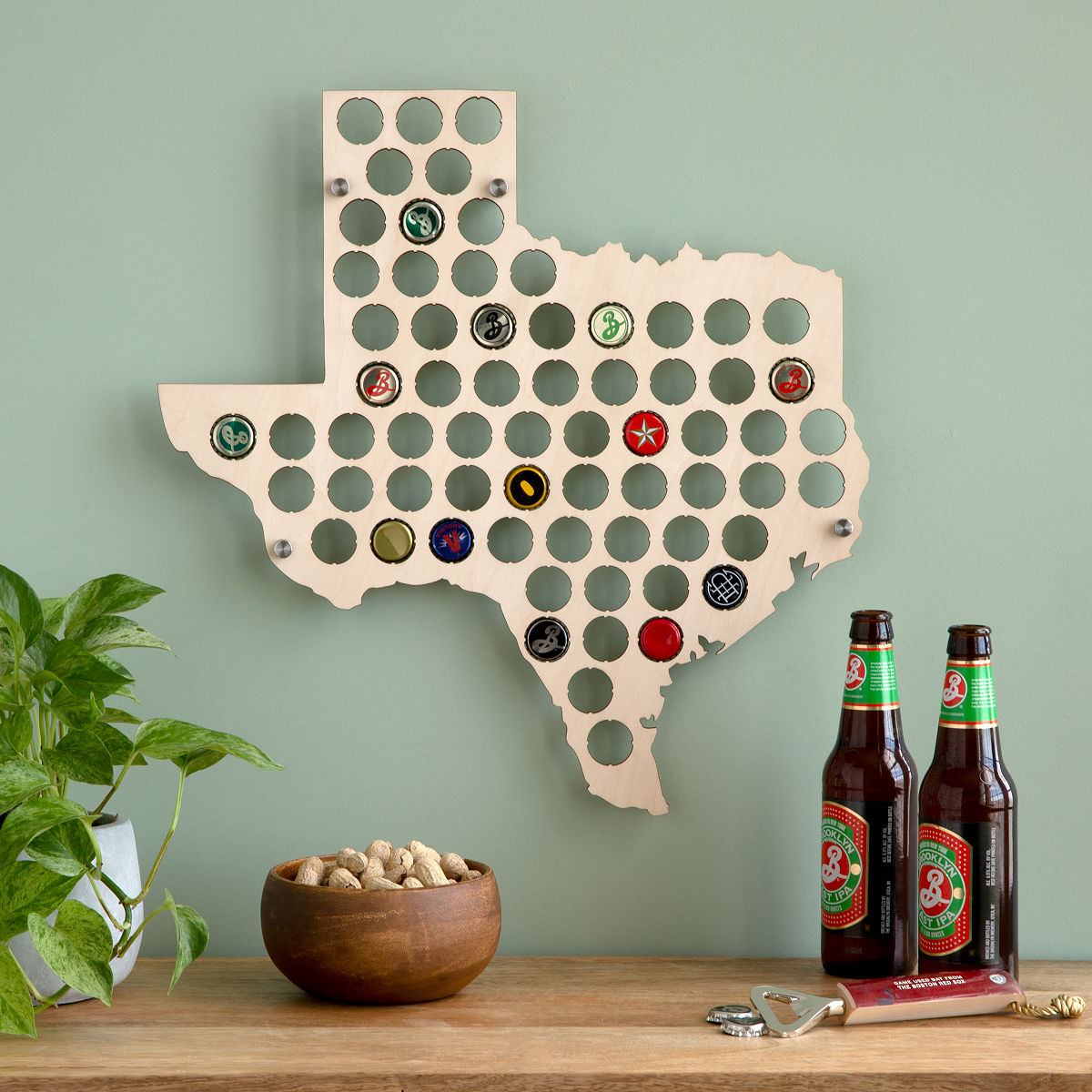 Beer Cap States Bottle Caps UncommonGoods US Beer Cap Map Small