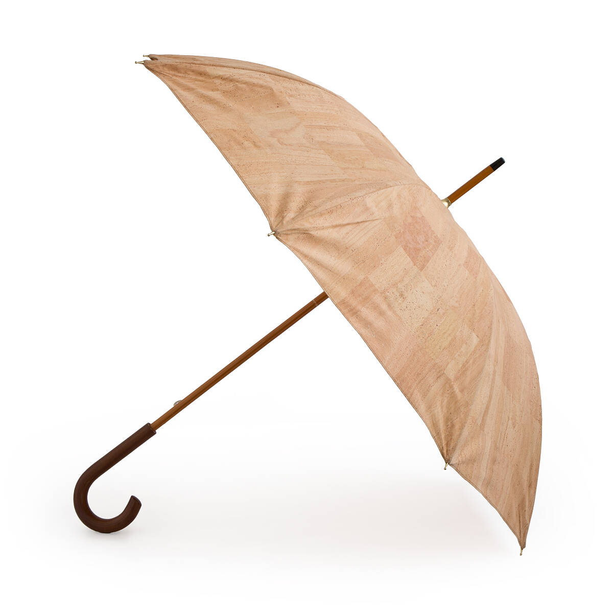 natural cork umbrella | weather cork, cork fabric | uncommongoods