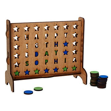 Personalized Stars Four-Across Game