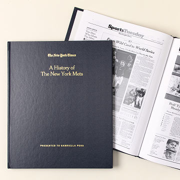 Customizable New York Times Custom Baseball Book