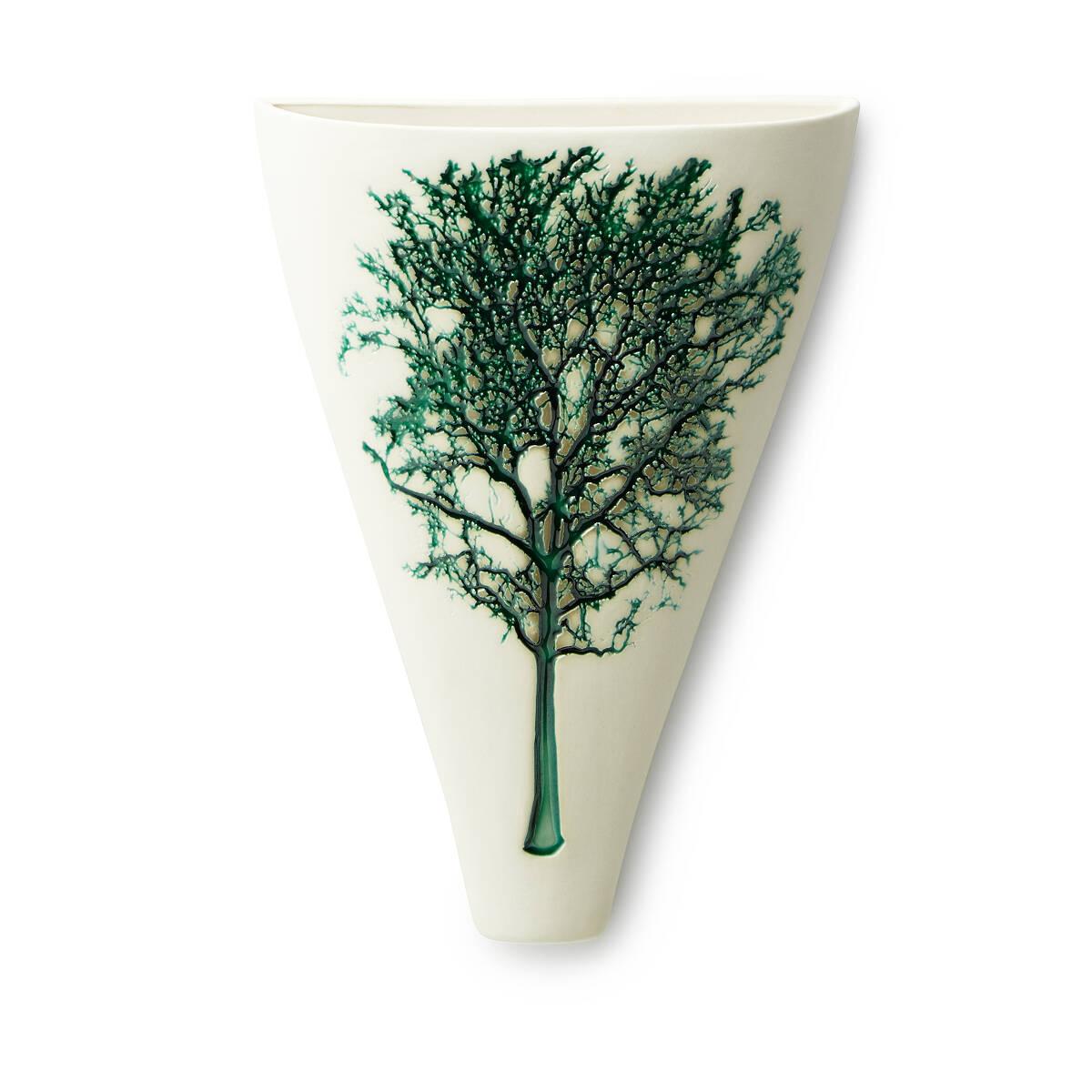 tree impression wall vase  porcelain vase  uncommongoods - tree impression wall vase  thumbnail