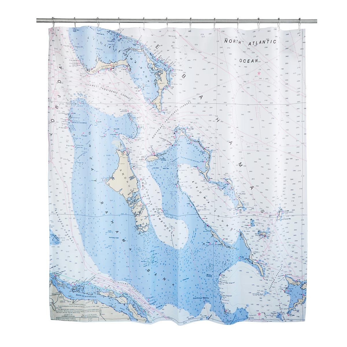 Treasure map shower curtain - Custom Map Shower Curtain