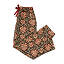 Red Flower Hand Block Print PJ Pants 2 thumbnail