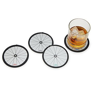 Bike Wheel Coasters - Set of 4