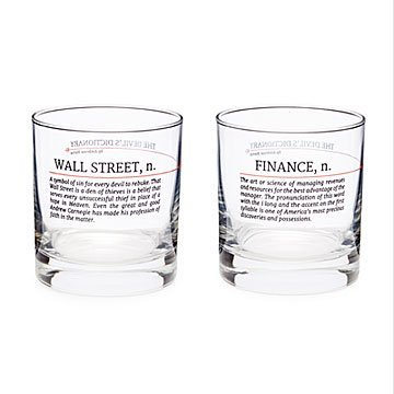 Devil's Dictionary Finance Glasses - Set of 2
