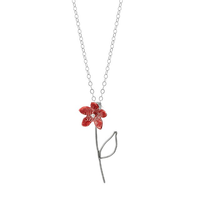 Dainty Bellflower Necklace