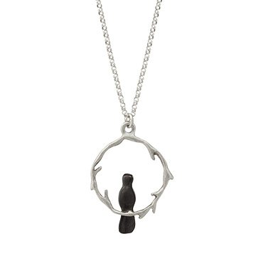 Sterling Silver Circle Branch Necklace
