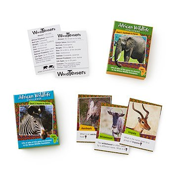 African Wildlife Trivia Cards