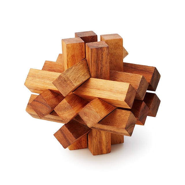 Giant Brain Teaser Puzzle Wooden Puzzles Uncommongoods