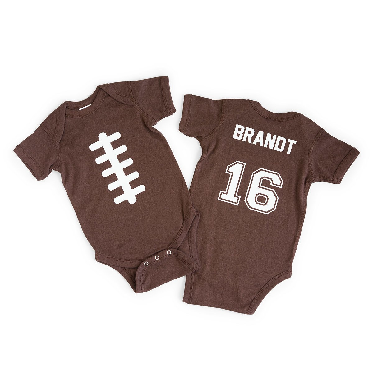 Sports gifts best gift ideas for sports fans uncommongoods customizable personalized football babysuit negle Gallery