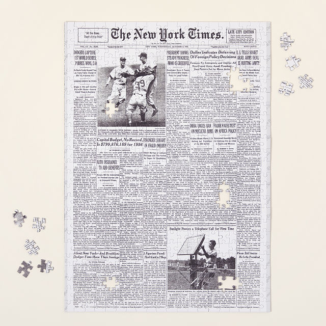 New York Times Custom Front Page Puzzle Front Page History Puzzle Uncommon Goods