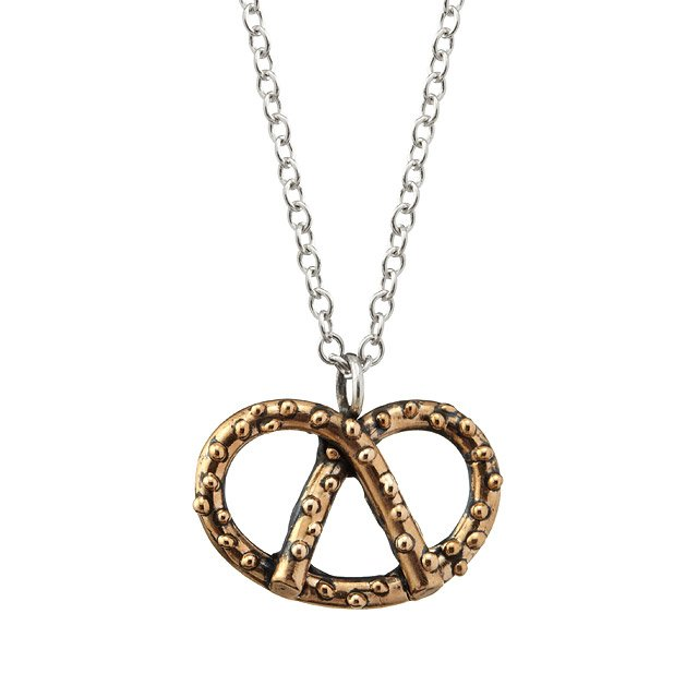 Bronze Pretzel Necklace