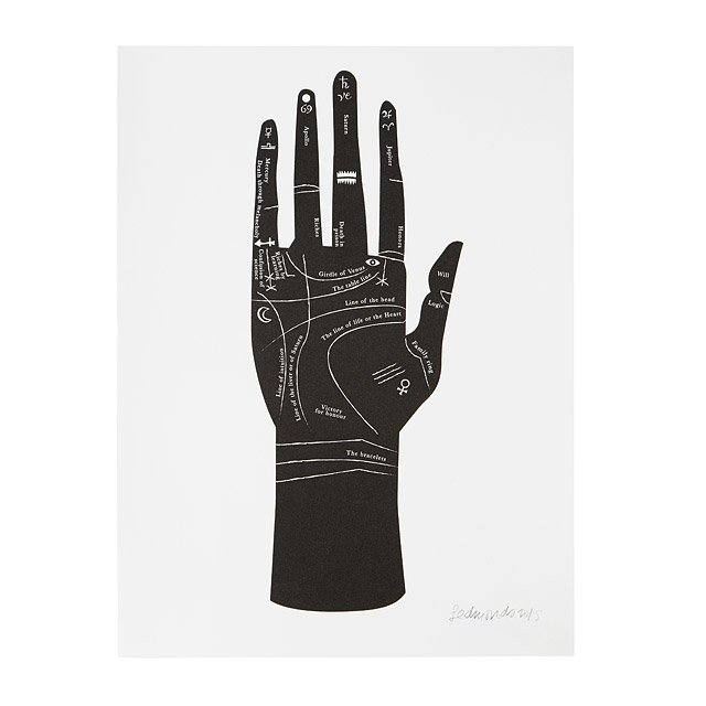 Palmistry Hand Screenprint