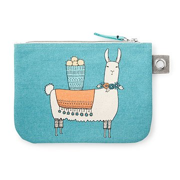 Llamarama Large Zipper Pouch