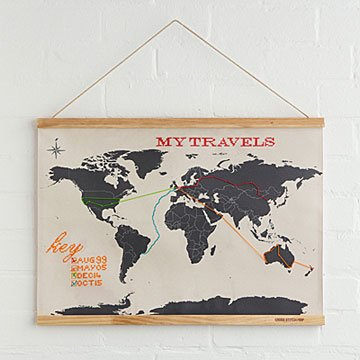 Unique map travel gifts uncommongoods gumiabroncs Choice Image