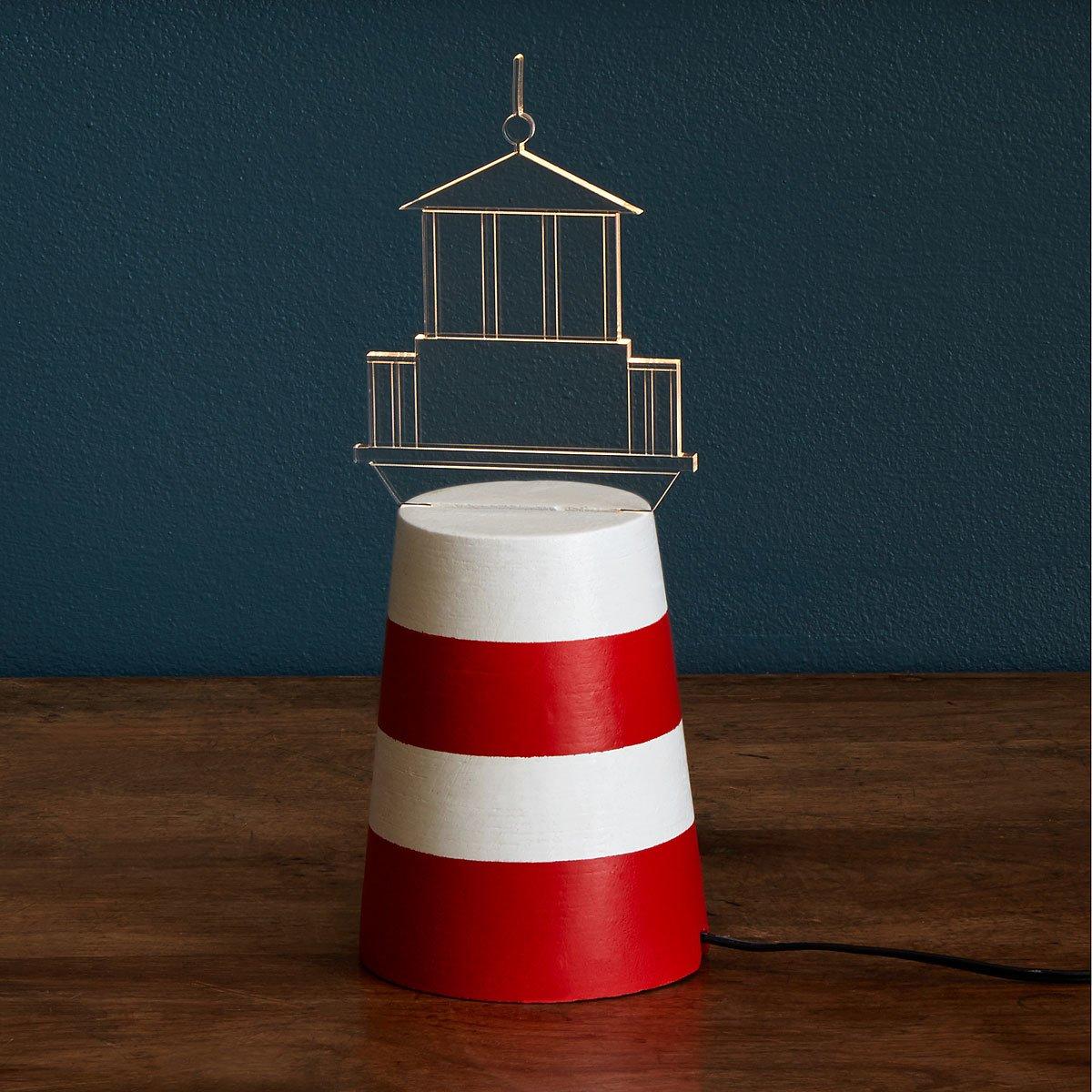 Cottage lighthouse lamp 3 colors - Led Lighthouse Lamp 1 Thumbnail Led Lighthouse Lamp Lighthouse Decor Led Lighting Uncommongoods