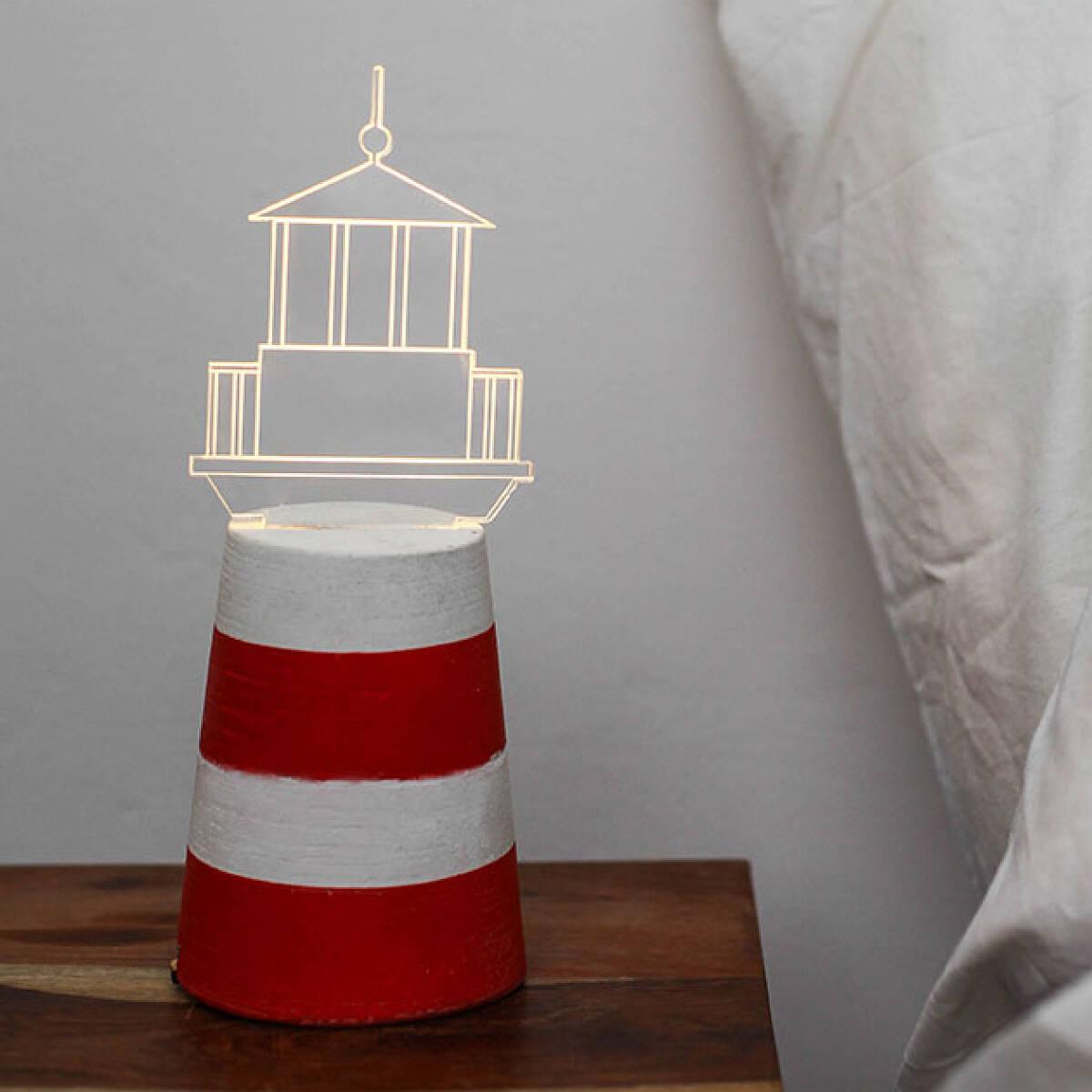 Cottage lighthouse lamp 3 colors - Led Lighthouse Lamp 3 Thumbnail Led Lighthouse Lamp Lighthouse Decor Led Lighting Uncommongoods