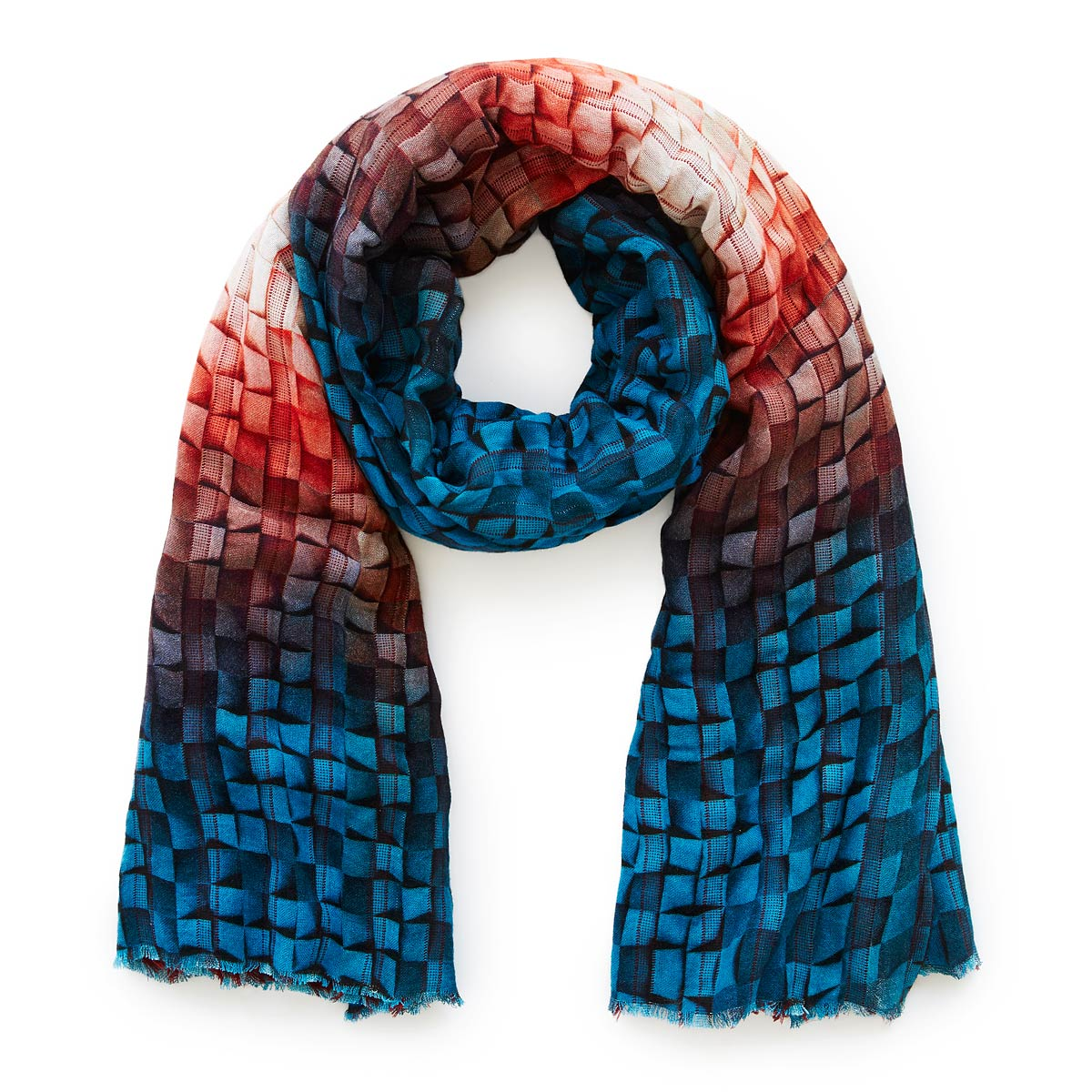 53a839ee0572c Mosaic Painting Reversible Scarf | digital print, artisan woven ...