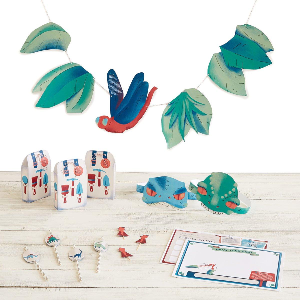Printable dinosaur party kit free dinosaur birthday party kit