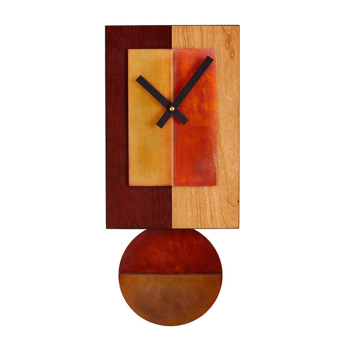 Unusual unique clocks recycled clocks cool clocks uncommongoods cherry pendulum clock amipublicfo Image collections