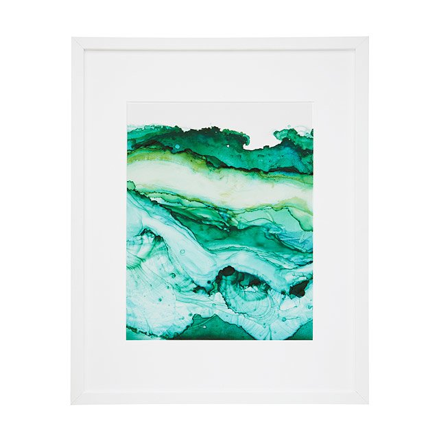 Tidal Shift Print in Emerald Ink