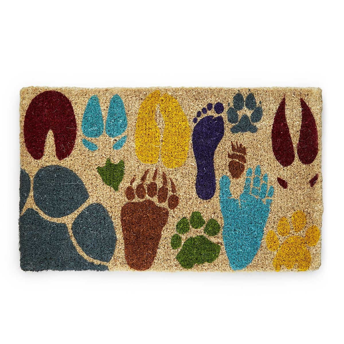 Array of Actual Sized Animal Tracks Doormat | Handmade Playful ...
