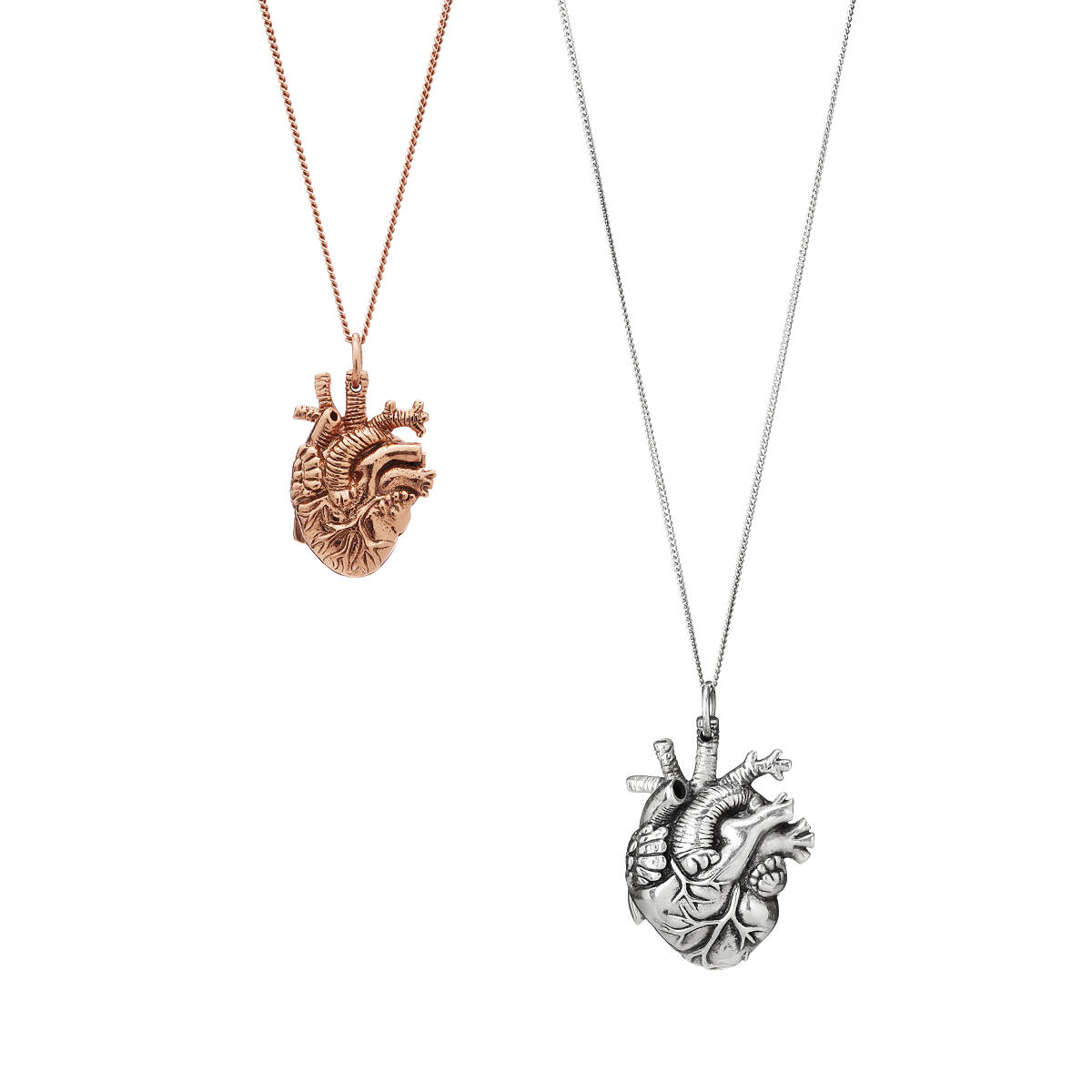 Tiny rose gold anatomical heart pendant heart organ real heart tiny rose gold anatomical heart pendant 2 thumbnail aloadofball Image collections