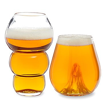 Mouth Blown Beer Glasses