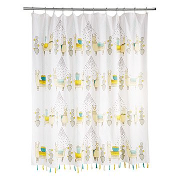 Larry and Friends Llama Shower Curtain