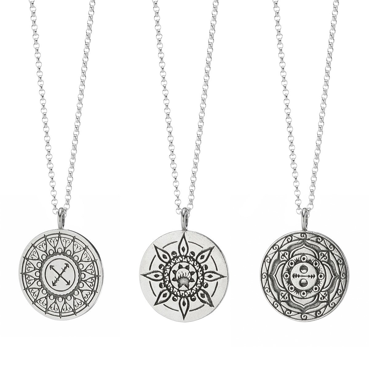 in silver necklace spiritess fifth by the pre products sale element mandala life pendant sterling