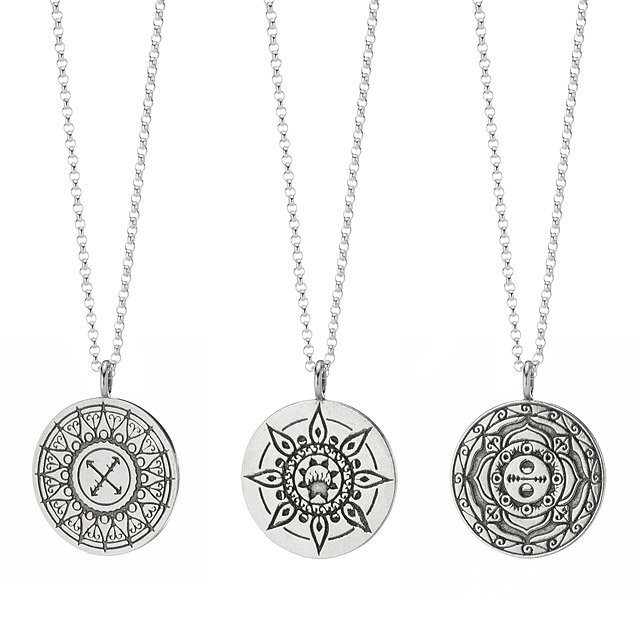 Sterling Mandala Necklace