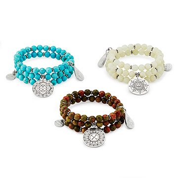 Mandala Beaded Gemstone Bracelet