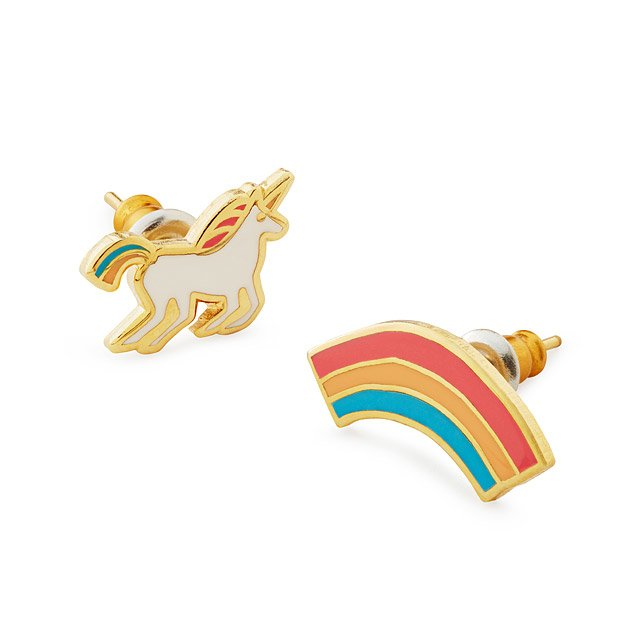 Unicorn Rainbow Mismatched Earrings