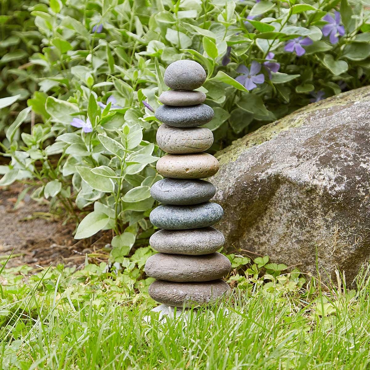 Garden Cairn | Handmade Rock Sculpture | UncommonGoods