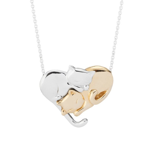 Intertwined Felines Necklace