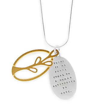 Inspirational jewelry uncommongoods a womans determination necklace aloadofball Gallery