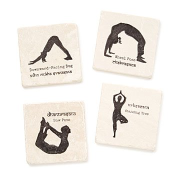 Yoga Pose Coasters - Set of 4