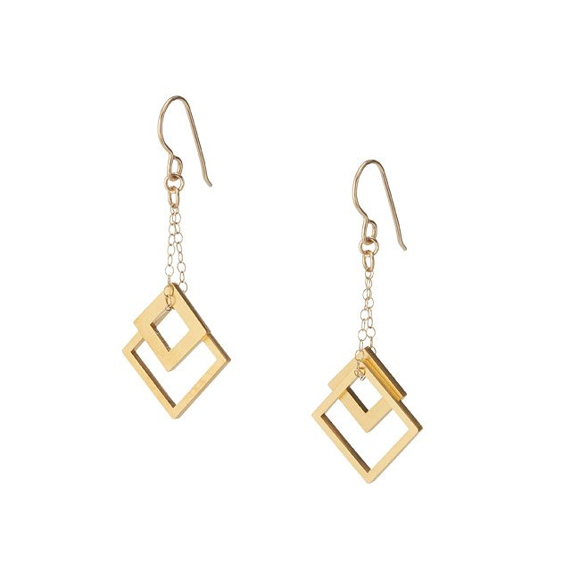 Nesting Square Earrings