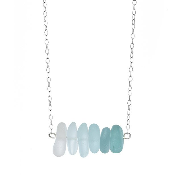 Shades of Green Sea Glass Necklace