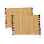 Woven Straw Placemats with Colored Tassels 2 thumbnail