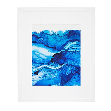 Stormy Seas Print in Indigo Ink