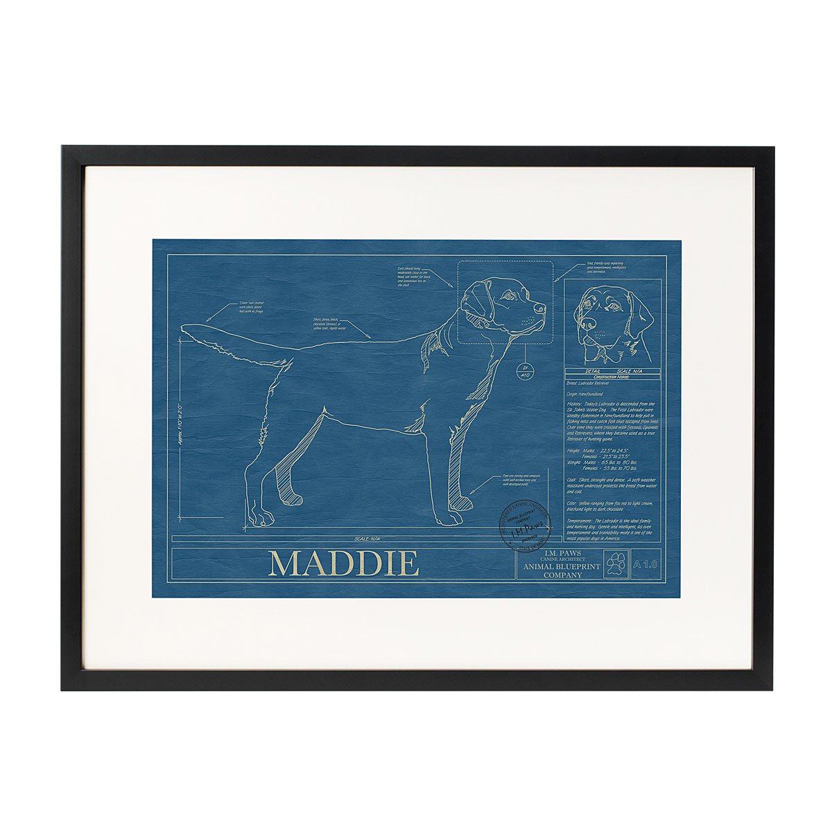 Personalized gifts for women custom gift ideas for her customizable personalized dog blueprints negle Images